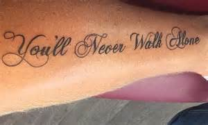 tattoo fixers you ll never walk john arne riise has liverpool motto you ll never walk