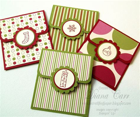 Handmade Gift Certificates - the secret of paper jolly gift card holders