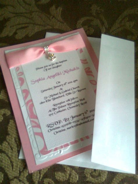 Christening Invitations Handmade - baptism invitation 2 unique dezigns handmade