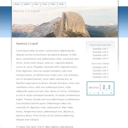 nautica 2 2 liquid template free website templates in css