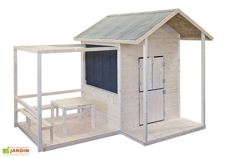Supérieur Table Et Chaise Bois Enfant #5: Maison-enfant-bois-avec-terrasse-416-2.jpg