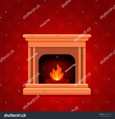 colorful fireplace colorful vector fireplace icon isolated stock