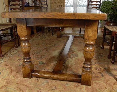8 farmhouse table farmhouse refectory table and 8 ladderback chairs