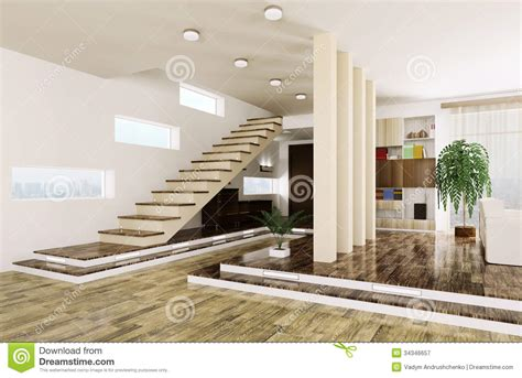3d House Plans Free entrance hall interior 3d render royalty free stock