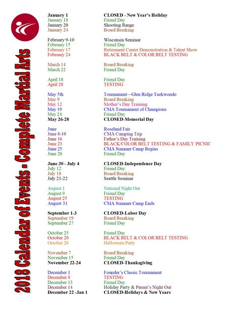 yearly event calendar template excel wegmans employment
