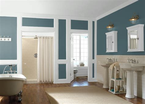 behr sophisticated teal bathroom paint color