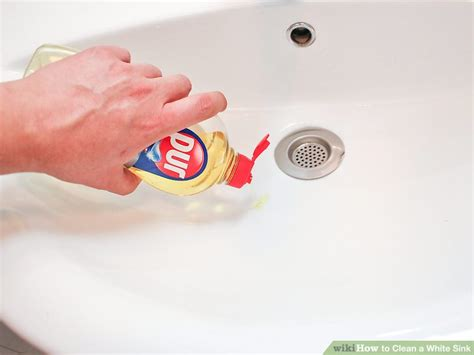 how to clean a white sink 3 ways to clean a white sink wikihow