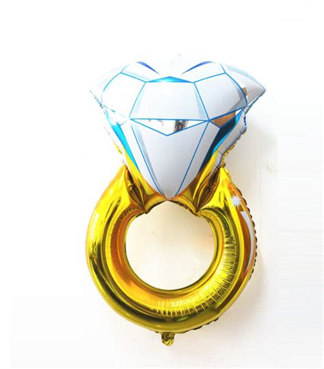 Ring Foil Balloon Blue cheap ring balloons wedding balloon bridal