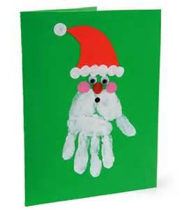 Christmas art projects for kids pinterest hand print santa card