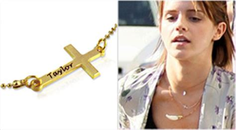 emma watson necklace celebrity necklaces personalised celebrity jewellery