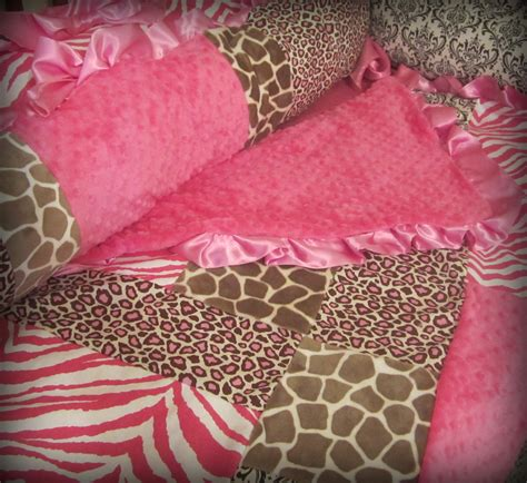 Pink Leopard Print Crib Bedding Baby Bedding Pink And Brown Animal Print Crib Set By Ziggetyzag