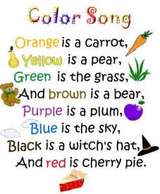 Kindergarten poems preschool color song kindergarten color color