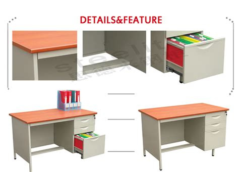 Used Metal Office Desk Steel Office Desk With Locking Drawers Office Desk Specifications Metal Furniture Executive