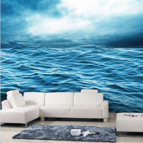 ocean sea rolling waves design wallpaper seascape mural