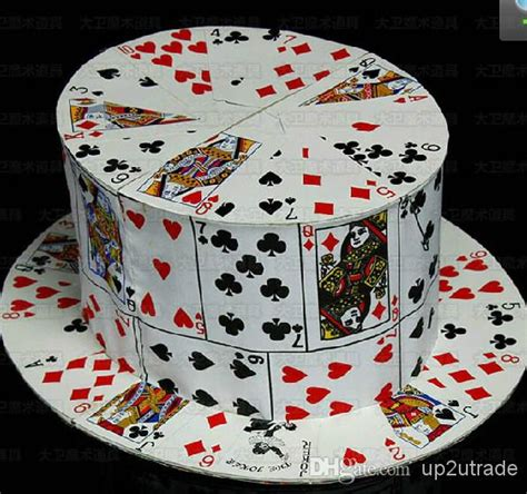 how to make a top hat from card magic props card fan to card top hat stage magic card