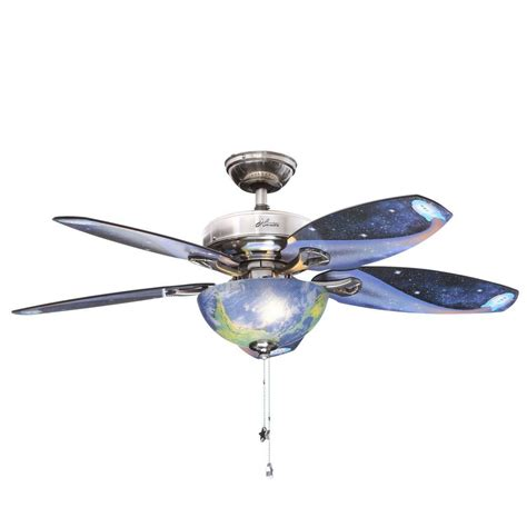home depot fans with lights discovery 48 in indoor brushed nickel ceiling fan