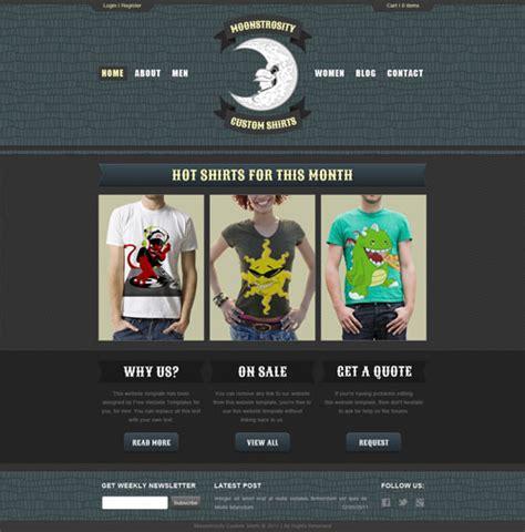 custom html templates custom shirt web template free website templates
