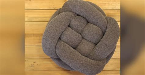 diy knot pillow diy knot throw pillow is simply made of tights and pillow