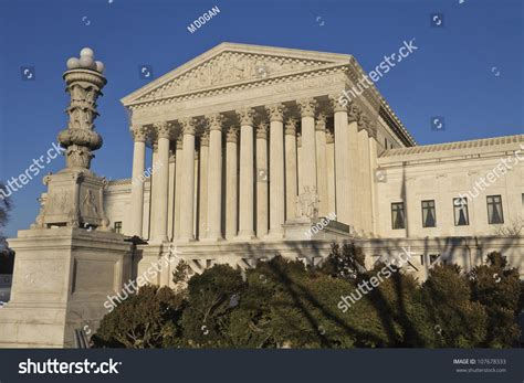 Washington Dc Court Search Supreme Court In Washington Dc United States Of America Stock Photo 107678333