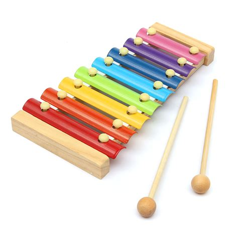 New 2 In 1 Xylophone Piano Mainan Alat Musik Anak toys 8 notes musical xylophone piano wooden instrument for children alex nld