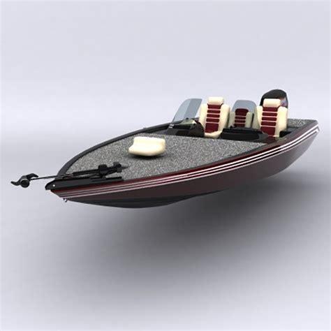 bass boat models 3d model bass boat