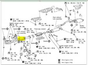 2003 Nissan Pathfinder Exhaust System Diagram 99 Maxima Exhaust System The Muffler Metal Braking
