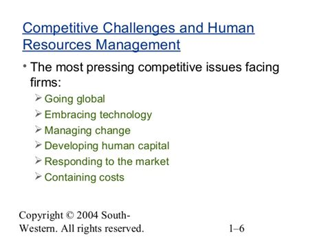 human resources challenges chapter 01 the challenge of human resources management