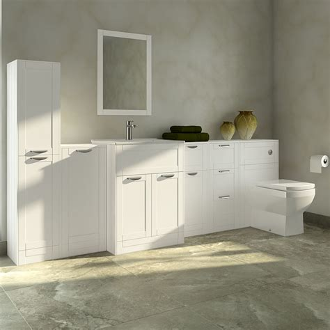 Furniture Bathroom Suites Nottingham White Furniture Bathroom Suite With Tabor Back To Wall Toilet