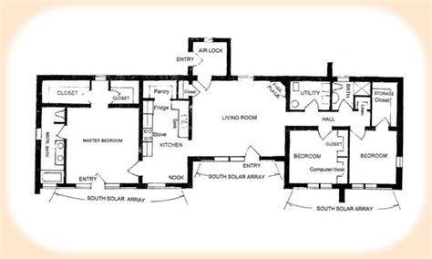 Adobe Style Home Plans by Solar Adobe House Plan 1870