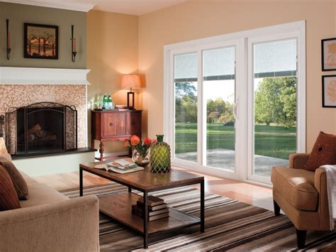 Decorating Living Room With Doors Pella 174 350 Series Sliding Patio Doors Traditional