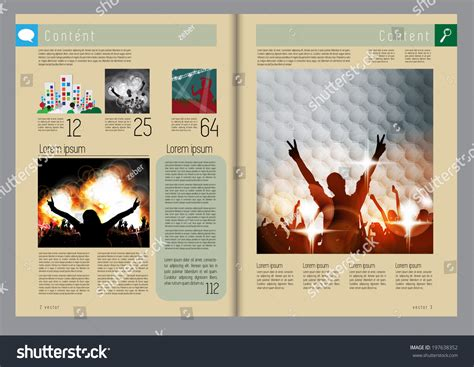 magazine layout event template music event magazine vector 197638352