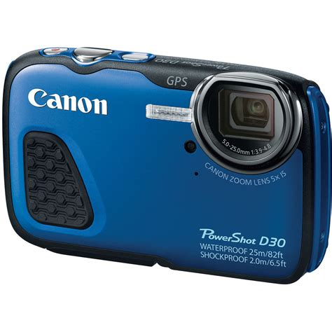 waterproof digital canon powershot d30 waterproof digital blue 9337b001