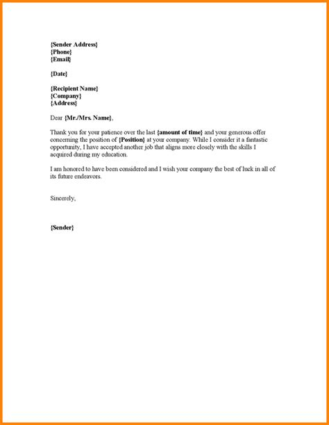 Decline Client Letter Declining Offer Letter 9550236 Png Letter Template Word