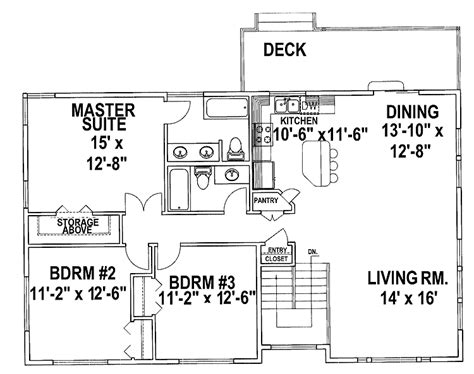 Split Level Floor Plans by Split Level House Plans Three Bedroom Split Level