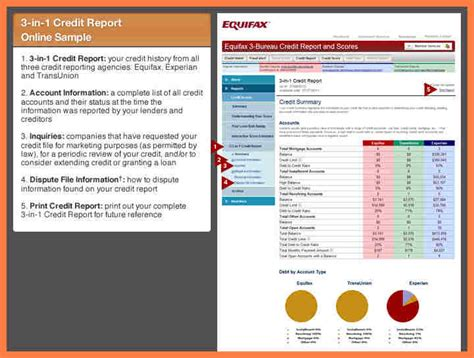 Equifax Background Check Sle Credit Report Tenant Screening Credit Check
