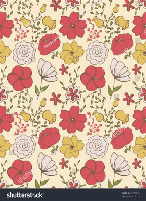 Custom Flowers Pattern 1 simple vintage floral pattern