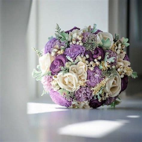 Luxe Collection Bridal Bouquet  Purple, Sola Flowers