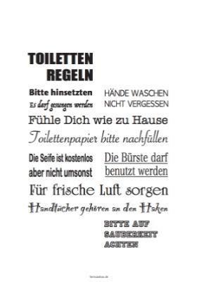 toilettenregeln zum ausdrucken kalender