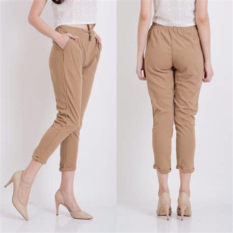Celana Panjang Fashion Wanita Cewek Perempuan Hitam Merah Import jual celana harem panjang tanggung cewek putih hitam