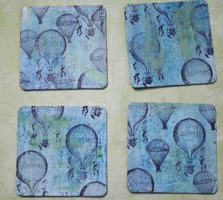 Shabby Blue Coaster crafty altered coasters