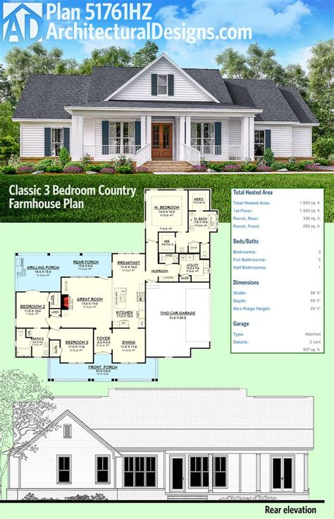 3 bedroom country house plans best 25 tractor bedroom ideas on
