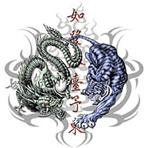 tattoo dragon et tigre t shirt tribal homme dragon et tigre