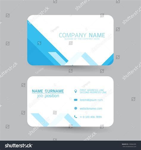 business card template millions of users vector modern simple light business card stock vector