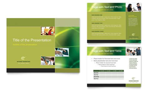 Internet Marketing Powerpoint Presentation Powerpoint Template Microsoft Powerpoint Templates With