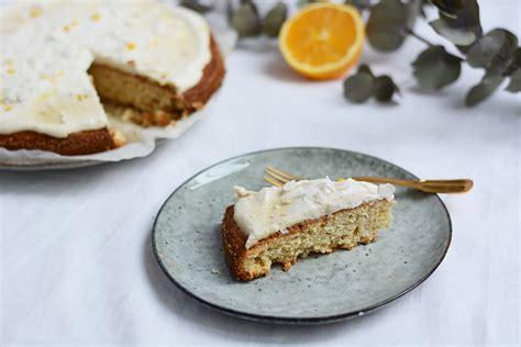 kuchen mit frischen orangen rezept orangen kokos kuchen mit kokos frosting vegan