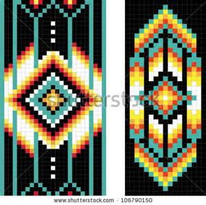 native american tubular peyote patterns big pattern