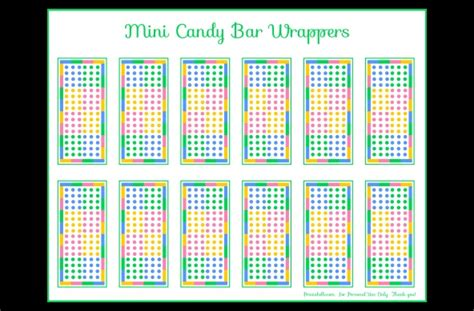 miniature bar wrappers template free free dot mini bar wrapper printable