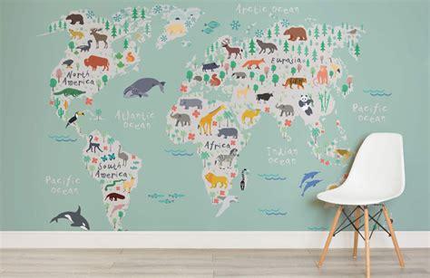 world map designs  decorate  plain wall contemporist