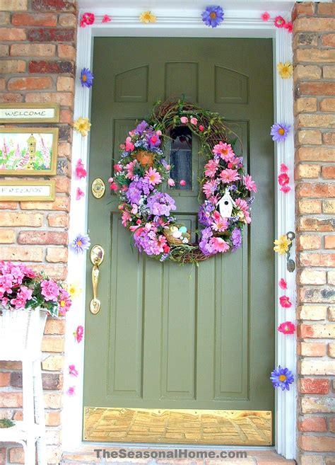 spring  easter outdoor door decoration  seasonal