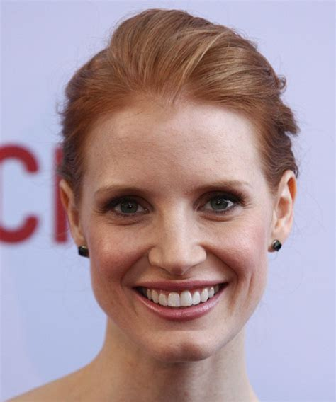 Jessica Chastain Updo Long Straight Formal Updo Hairstyle